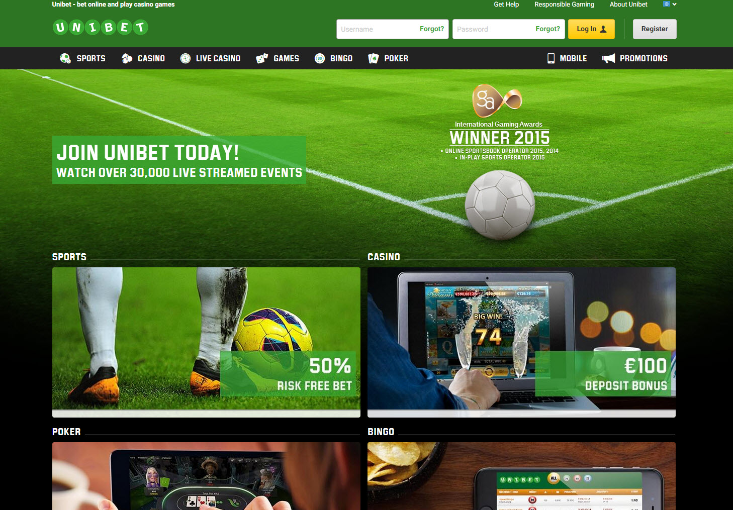 unibet deposit methods